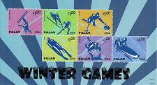 Palau 2014 Mnh Juegos de Invierno 6v m/s Olimpiadas Luge esquí Curling Esqueleto nórdicos