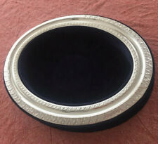 925 Sterling Silver and Blue velvet Jewelry/ Accessory Holder From Italy