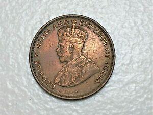 CEYLON 1925 ONE CENT -GEORGE V , KM#107