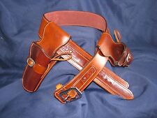 Leather Silverado Double Gun Rig | SASS Cowboy Western Holster Belt