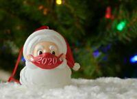 Santa Ornament with Mask Christmas 2020 Snowman Santa Claus Decoration BG