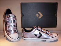 Scarpe sportive basse sneakers Converse All Star Player donna bambina pelle 36