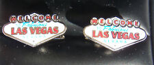 New Welcome to Fabulous Las Vegas Nevada Strip Logo Sign Cufflink Cloissone Set