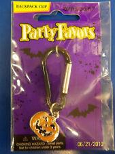 Halloween Carnival Kids Birthday Party Favor Black Metal Backpack Clip - Pumpkin