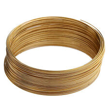 100/500loop Silver/Gold Plated Memory Steel Wire For Cuff Bracelet 0.6mm 6 Color