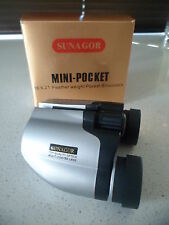 Brand New Sunagor 18 x 21 Mini Pocket Compact Binoculars BNIB Free Postage