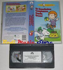 film VHS CARTONE ANIMATO UN GRANDISSIMO COMPLEANNO CHARLIE BROWN  (F34)  no dvd