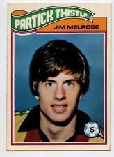 (w15o21-348) TOPPS, Scottish Footballers, Partick Thistle, Jim Melrose 1978 VG