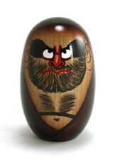 "Japanese Vintage Creative KOKESHI Wooden Doll Daruma 4""H for Luck & Good Fortune"