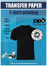 ppd A4 Dark Inkjet T Shirt Transfer Paper X 100 With