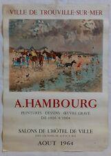Affiche exposition artistique André HAMBOURG 1964 à TROUVILLE-sur-Mer - Mourlot