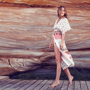 Suboo Life's Peachy Peach Cream Banana Palm Tree Beach Wrap Robe Cover Up 10 12