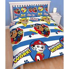 Boys 2 in 1 Reversible Double Rotary Duvet Covers Avengers Cars Star Wars More Pawpasdd001uk2 Paw Patrol - Pawsome