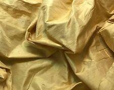 "Silk DUPIONI Fabric Pure Gold fat 1/4 18""x27"" remnant"
