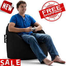 BEAN BAG Chair Lounger Kids Adults Sofa Couch Lazy Soft Cozy Seat Black Medium