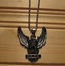Eagle biker motorcycle stainless steel pendant & necklace