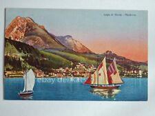 MADERNO Toscolano LAGO di GARDA barca vela Brescia vecchia cartolina 471