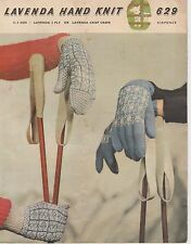 vintage retro LAVENDA HAND KNIT photo copy knitting pattern lady's Gloves
