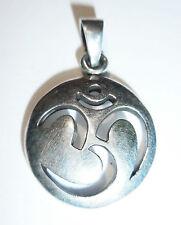 Anhänger Kette OM Symbol ECHT 925 Silber Talisman Amulett AUM Zeichen SS96