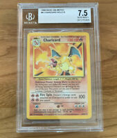 BGS 7.5 Charizard Pokemon Base Set Non Shadowless Holo Rare 1999 Near Mint NM +