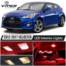 Red Interior LED Lights Package Kit For 2012-2017 Hyundai Veloster