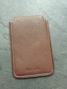 Paul Smith PS Brown Safiano Leather  Case/ Card holder  Brand New