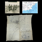 RARE 1944 WWII 142nd Infantry D-Day Assault Map of Frejus Operation Dragoon