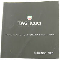 TAG HEUER CHRONOTIMER INSTRUCTIONS & GUARANTEE CARD BOOKLET