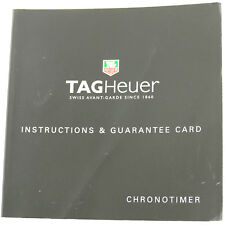 & Guarantee Card Booklet Tag Heuer Chronotimer Instructions