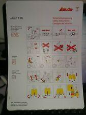Safety Card / Lauda Air / AIRBUS  A 321