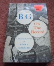 BG in der Aufzeichnung ein Bio-Discographie von Benny Goodman 1978 New York hbdj