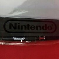 "RARE New Nintendo Employee Notebook and Pen Black 8"" x 11"" Blank Lined Pages"