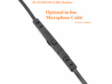 Plantronics Rig Headset Optional In-line Microphone Cable PC MAC Xbox 360 PS3