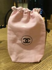 CHANEL Pink makeup pouch bag with stickers