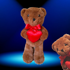 HUGGIBEAR Classic Satin-Heart Teddy Bear