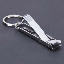 Ultra Slim Small Foldable Stainless Steel Nail Clippers Key Chain EDC Tool XC