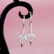 2Ct Round Cut D/VVS1 Diamond Drop & Dangle Earrings Solid 14K White Gold Finish