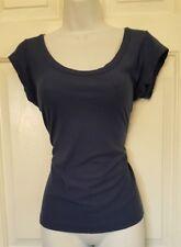 Womens/Ladies short sleeve blue t-shirt Sz XL ~ scoop neck ~ very soft