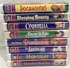 Walt Disney Movies Lot of 8 VHS Tapes Masterpiece Collection Rare
