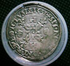 1551 +  Caen Mint France Douzain Silver Medieval Coin