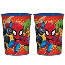 MARVEL SUPER HERO ADVENTURES KEEPSAKE CUPS (2) ~ Birthday Party Supplies Favors