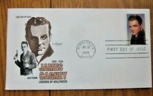 JAMES CAGNEY ACTOR LEGENDS OF HOLLYWOOD 1999  ARTMASTER CACHET FDC VF UNADDR