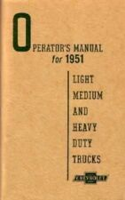 CHEVROLET 1951 Truck Owner's Manual 51 Chevy Pick Up