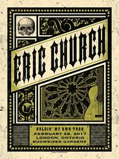 Eric Church 3/1/17 Poster London Ontario Signed & Numbered #/35