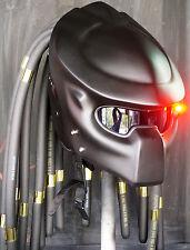 New Fancy Matte Black Predator Motorcycle Helmet Dread Novelty Not DOT/ECE
