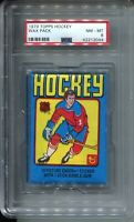 1979 Topps Hockey Card Wax Pack Wayne Gretzky Rookie Year Graded PSA NM MINT 8
