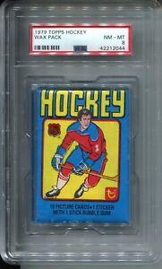 1979 Topps Hockey Card Wax Pack Wayne Gretzky Rookie Year Graded PSA NM MINT 8