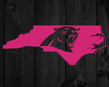 2 CAROLINA PANTHERS DECAL NORTH CAROLINA STATE VINYL PAIR CAR