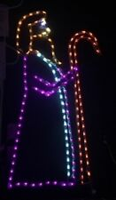 Large Nativity Shepherd Holiday Outdoor LED Lighted Decoration Steel Wireframe