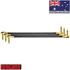3 Units - 45cm Mogami 2524 - Guitar Effects Instrument Patch Cables - Z Shape